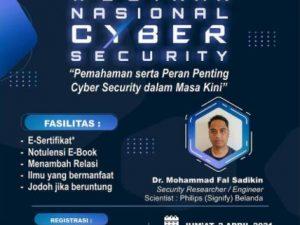 """HIMSI UAA Mengadakan Webinar Nasional """"PEMAHAMAN SERTA PERAN PENTING CYBER SECURITY DALAM MASA KINI"""""""